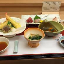 試食は日本食をいただきました。