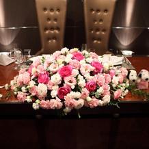 メインテーブル 装花