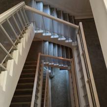特徴的な螺旋階段