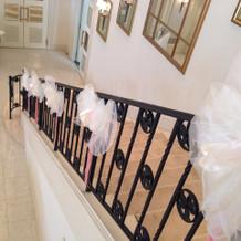 階段にも飾りがつけられます