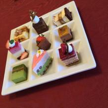 デザート、たくさん種類がありました。