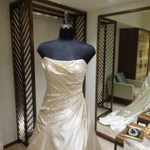 展示されていたドレス