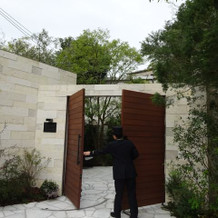 ガーデンフォレスト専用の外からの入り口