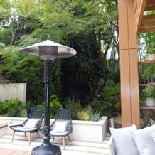 ガーデンフォレスト喫煙スペース