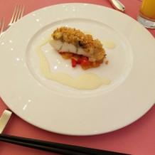 メインの前の魚料理
