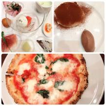 ピザと前菜とデザート