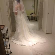 マーメイドのサテン生地のシンプルなドレス