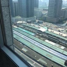披露宴会場から見える東京駅