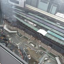 上からの景色は下の東京駅が全てみえます。
