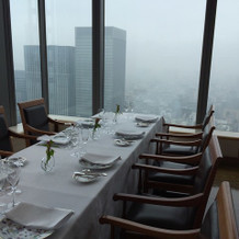 レストランから景色がよくみえます。