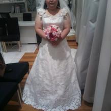 お花がとても可愛いドレス