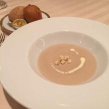 マッシュルームのスープ。