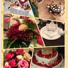 ケーキや装花