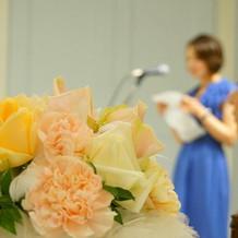 装花も可愛いくて女性から好評でした