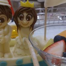 オリジナルケーキのマジパン♪