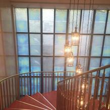 螺旋階段上段からの眺め