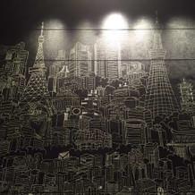 フォトスペース。東京の名所のイラスト