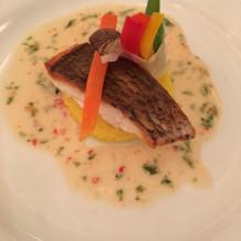 お魚料理。