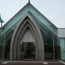 教会の正面