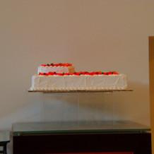 ウエディングケーキを客席から見た