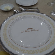 披露宴のお皿