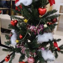 クリスマスツリーを持っていきました
