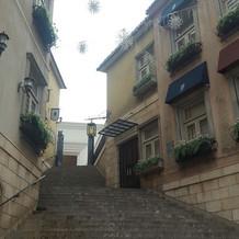 チャペルまでの階段