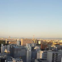 お昼もこんな感じで名古屋を一望できます。