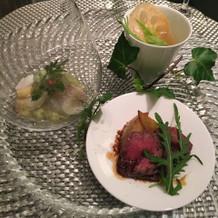 前菜とお肉