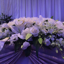 ひな壇の花