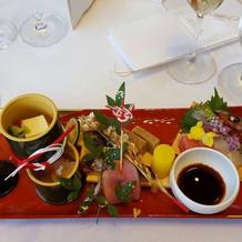 和洋折衷前菜の写真です