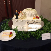 賞味会時のドーム状フレッシュケーキです