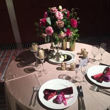 賞味会の時の装花ブースの時の写真です