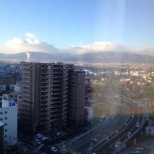 部屋からの朝の風景