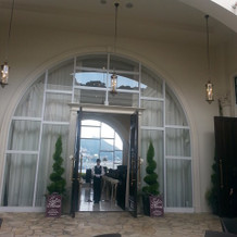 挙式会場の入口
