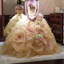 カラードレスです。淡く可愛かったです