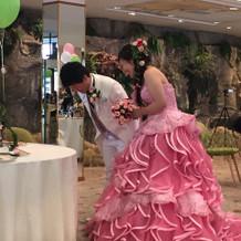大好きなピンクのドレス♪