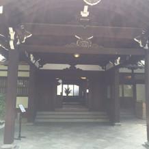 披露宴、淀川亭の入り口