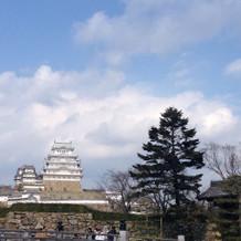 披露宴会場からも見える姫路城