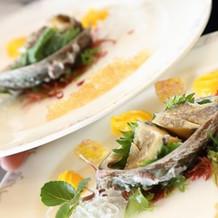 海産物のサラダ
