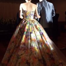 蜷川実花さんカラードレス  後ろ