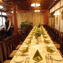 晩餐会スタイルが似合う会場
