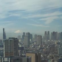 天気が良いと富士山が見えます