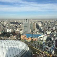 目の前に東京ドーム