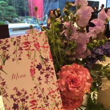 テーブルのお花もとっても可愛かった