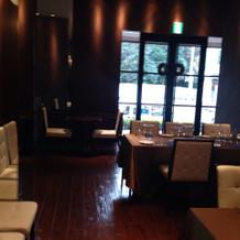 一階のレストラン