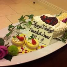 自分たち用のケーキ