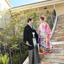 紋付袴と色打掛