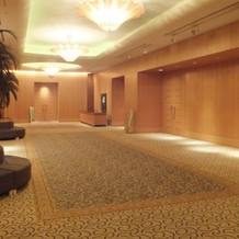宴会場前のスペース