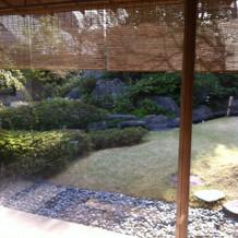 個室からのお庭
